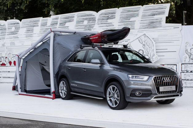 2015 Audi Q3 Camping Tent Revealed at the Worthersee Tour in Austria