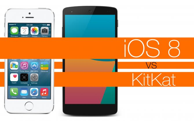 Apple iOS 8 vs. Android 5 Lollipop vs. Android 4.4 KitKat: Apple Finally Has a Worthy Challenger