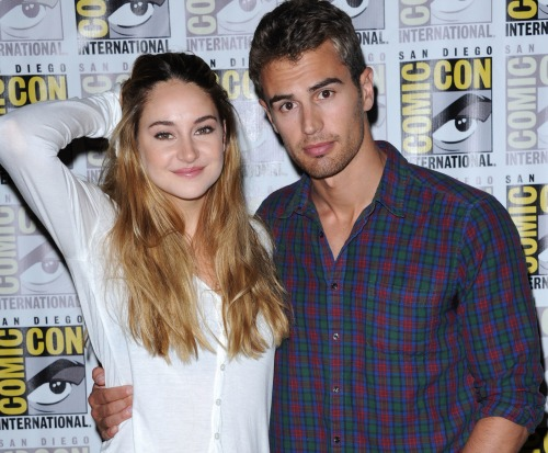 "Photo of Theo James & his friend actress  Shailene Woodley - Movie ""Divergent"""