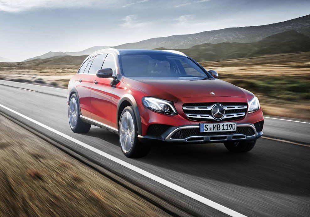 2017 mercedes benz e class all terrain becomes the first ever raised estate in the german luxury. Black Bedroom Furniture Sets. Home Design Ideas