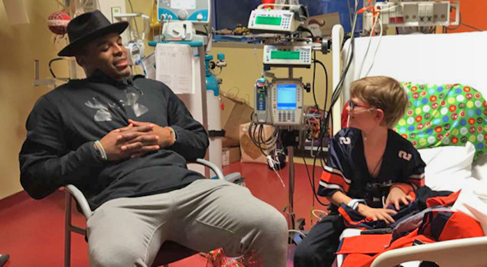 Cam Newton Makes Christmas Wish of Sick 10-Year-Old Boy Come True and Sort of Offset the Carolina Panthers' Disappointing Season!