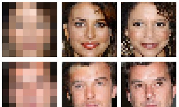 Google AI Neural Networks Able to Enhance a Garbled Picture's Resolution and Fill in the Missing Details!